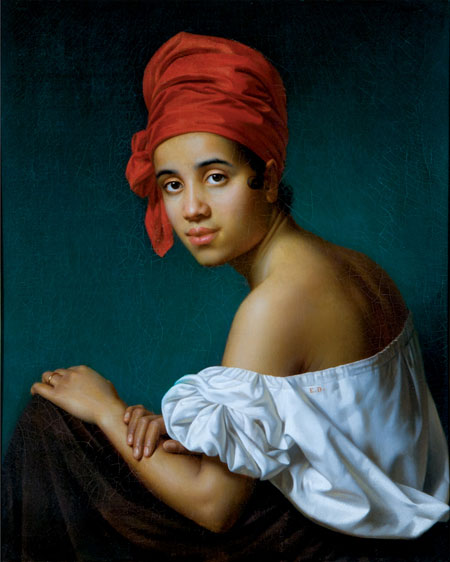 Creole in a Red Turban , Jacques Guillaume Lucien Amans (1840)