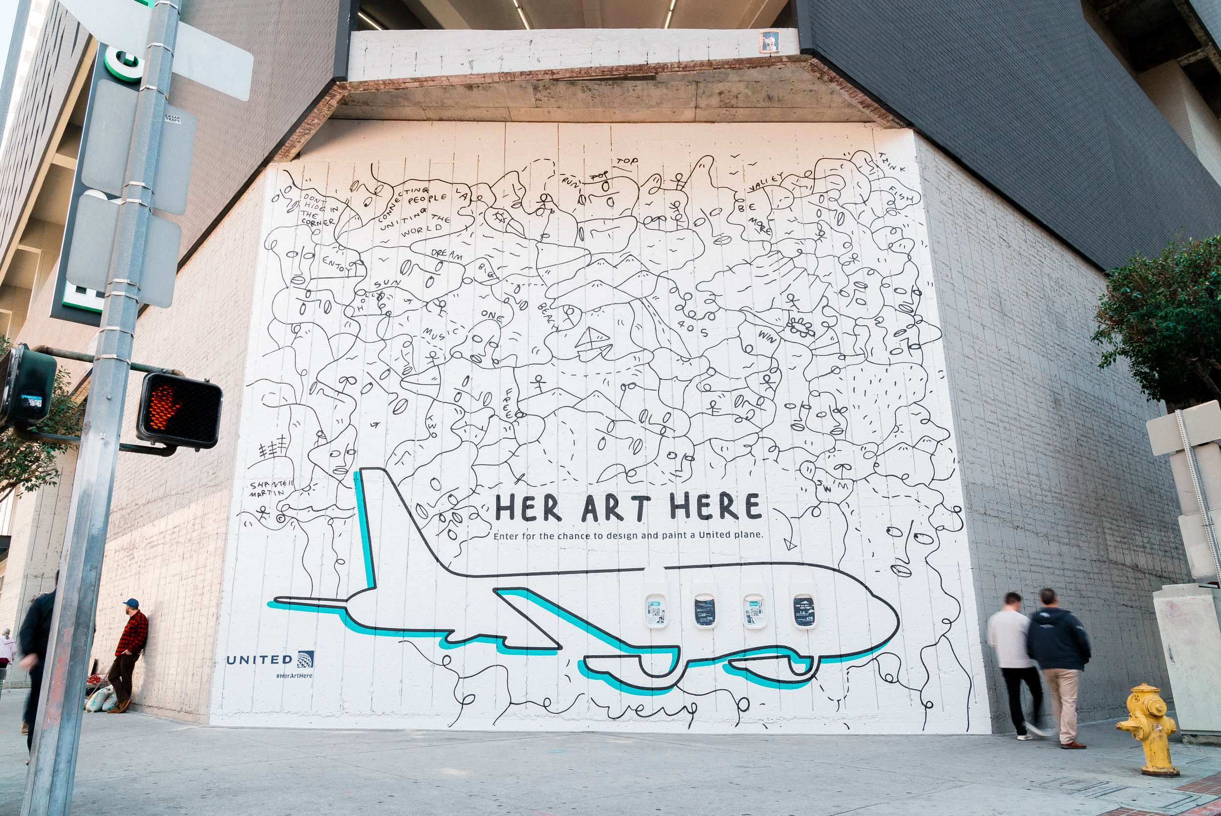 [Her Art Here] Shantell Martin x United Airlines - March 2019 - 8th and Flower, Los Angeles