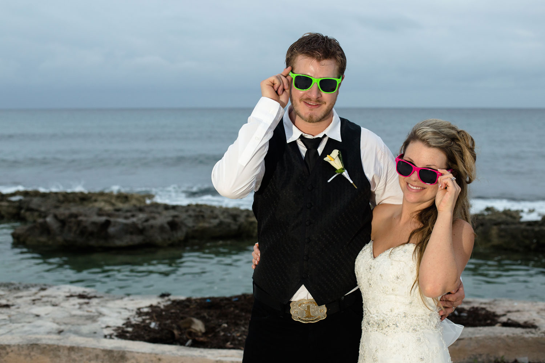 The future's so bright: Jordan and Chelsea rock the shades along the Caribbean coast.