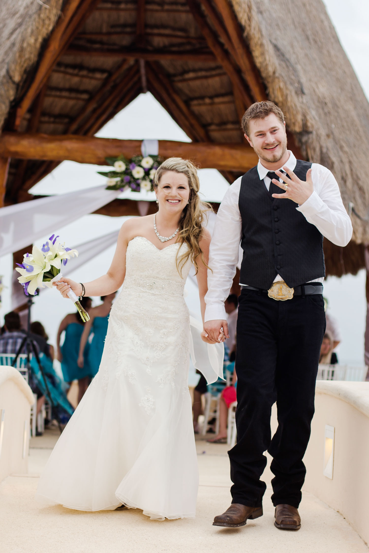 All smiles: The Kasner's couldn't have been happier with how their special day turned out.