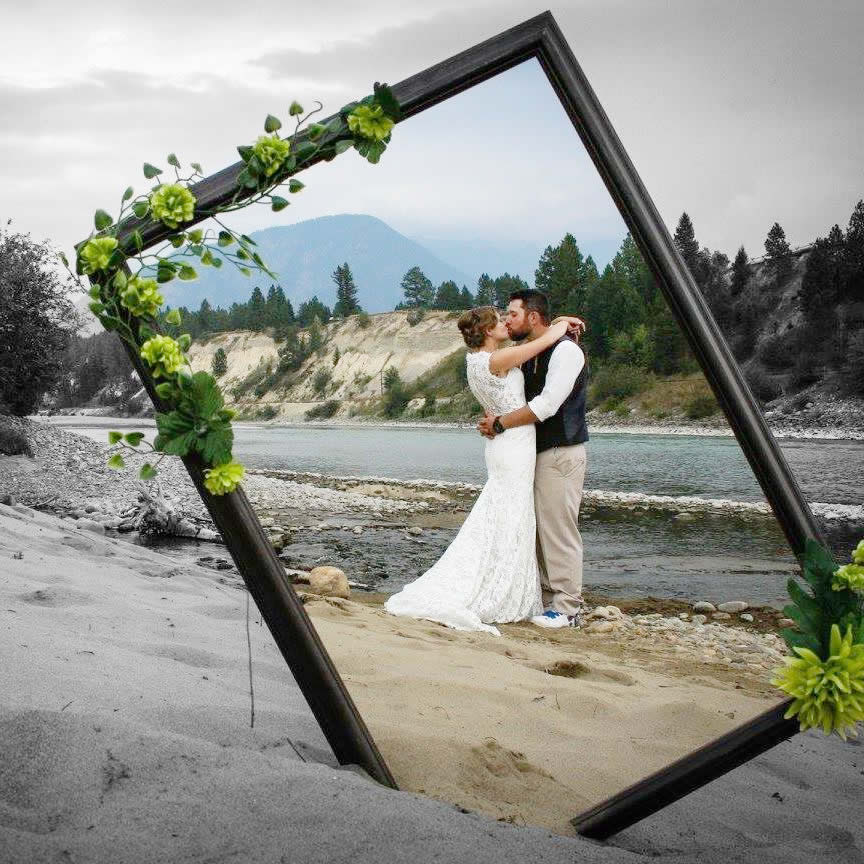 Sarah and Patrick O'Donnell along the banks of the picturesque Kootenay river.