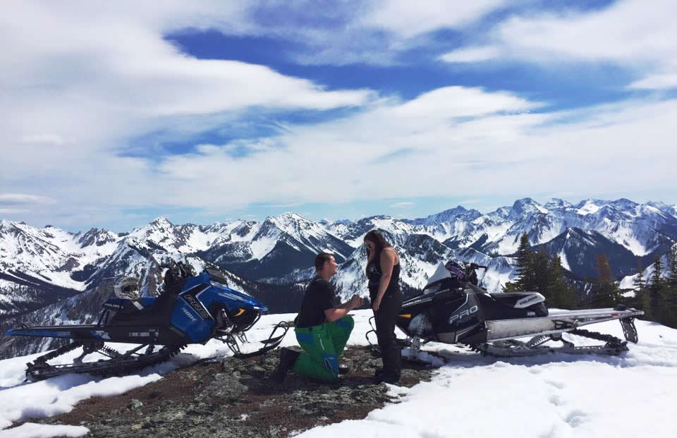 Tyler Stapleton surprises the love of his life, Brittney Pocha, after sledding to the top of a mountain.