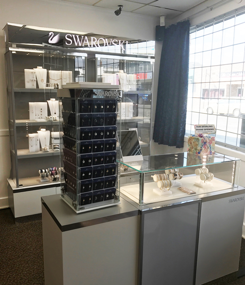 Drop by Jewels on Ninth to view the latest Swarovski collections in our Swarovski shop in-store display.