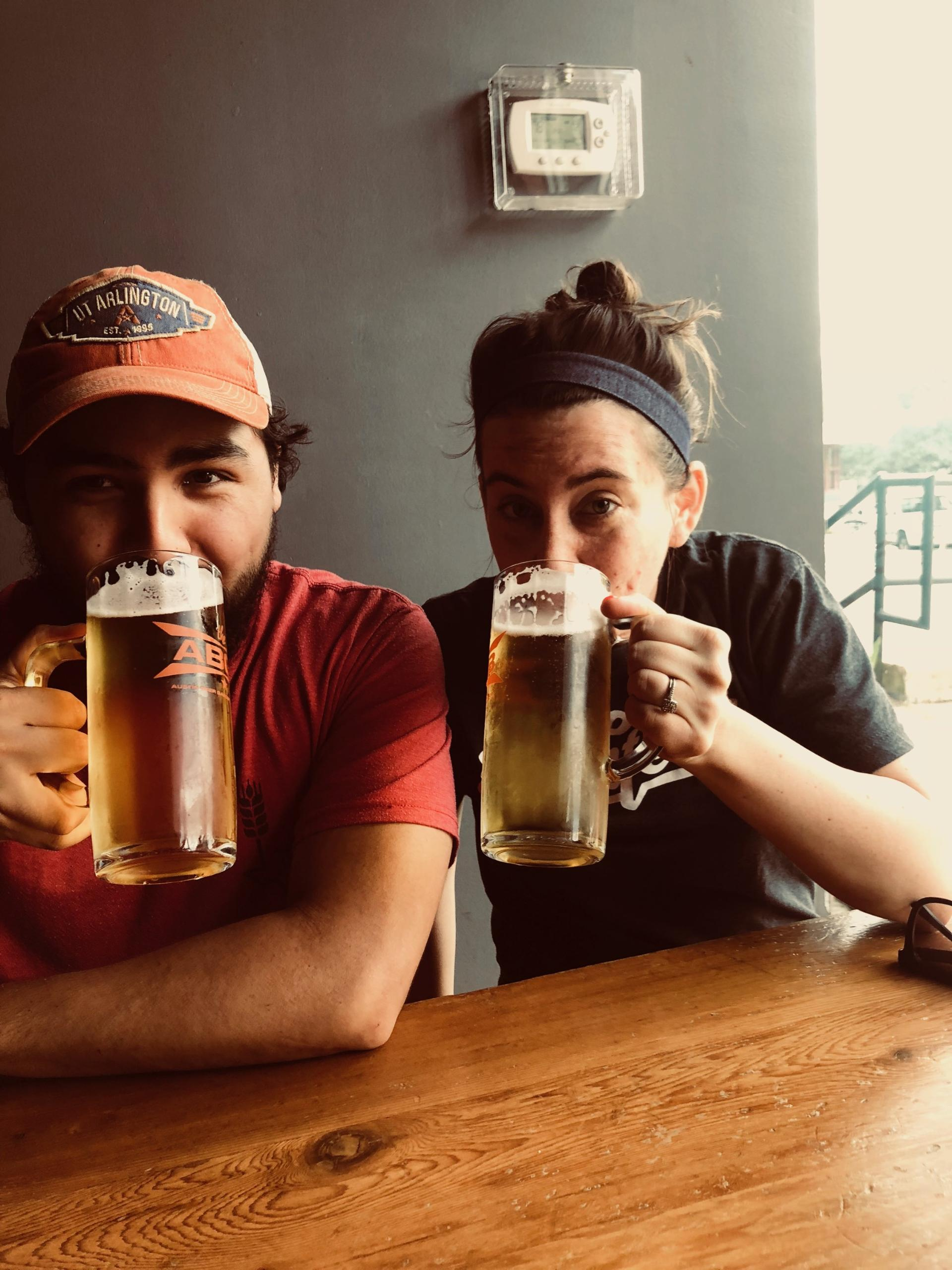 Juan and his wife Kristen enjoying a great Texas made beer.