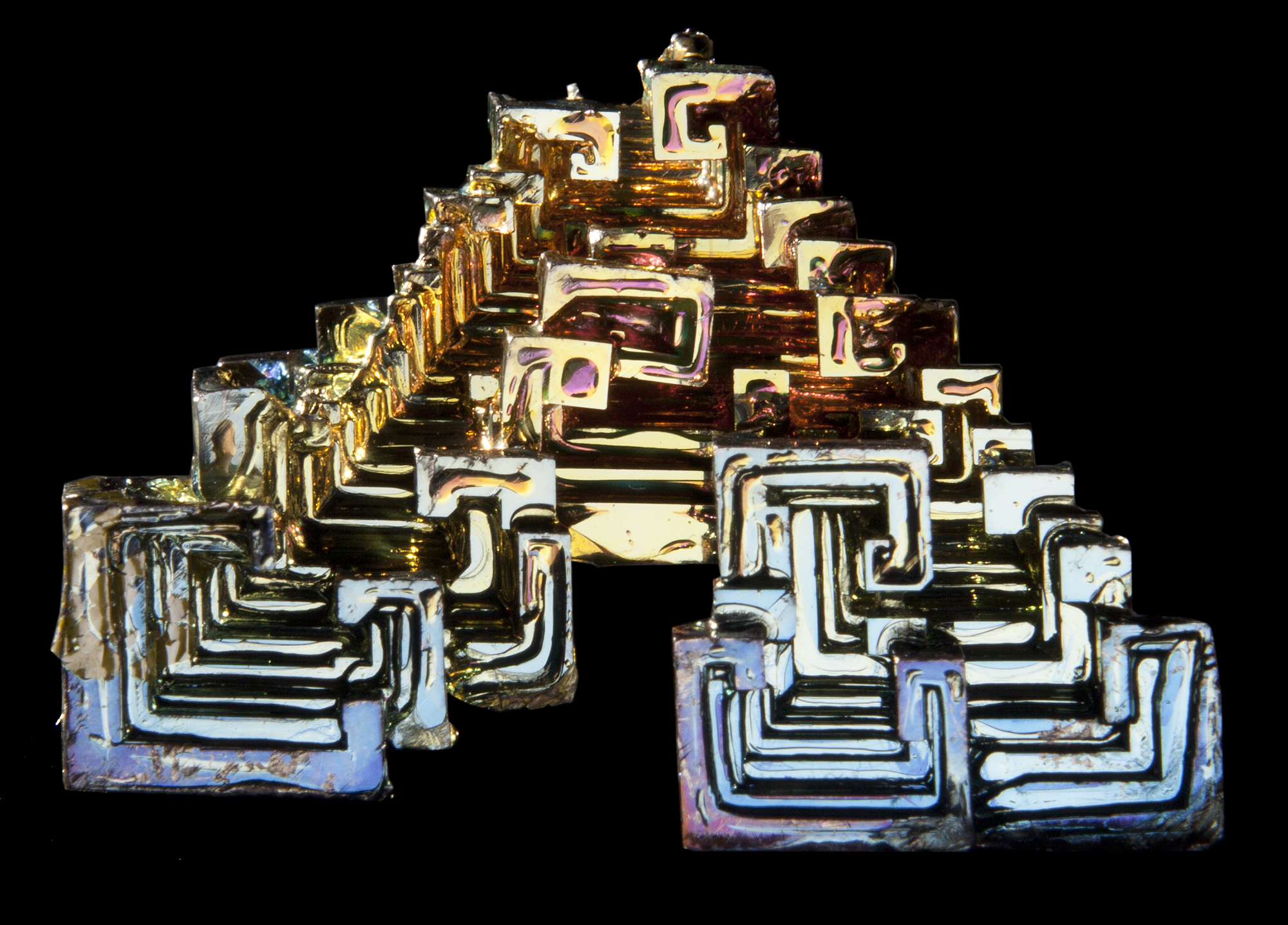 Bismuth (front)  3D lenticular print.