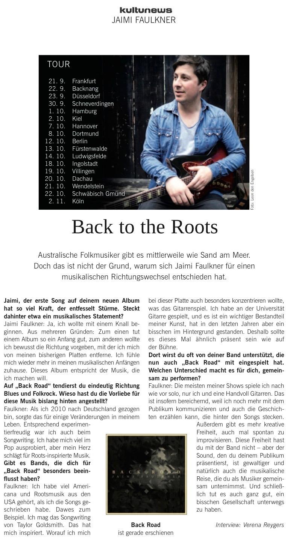 Back Road Kulturnews
