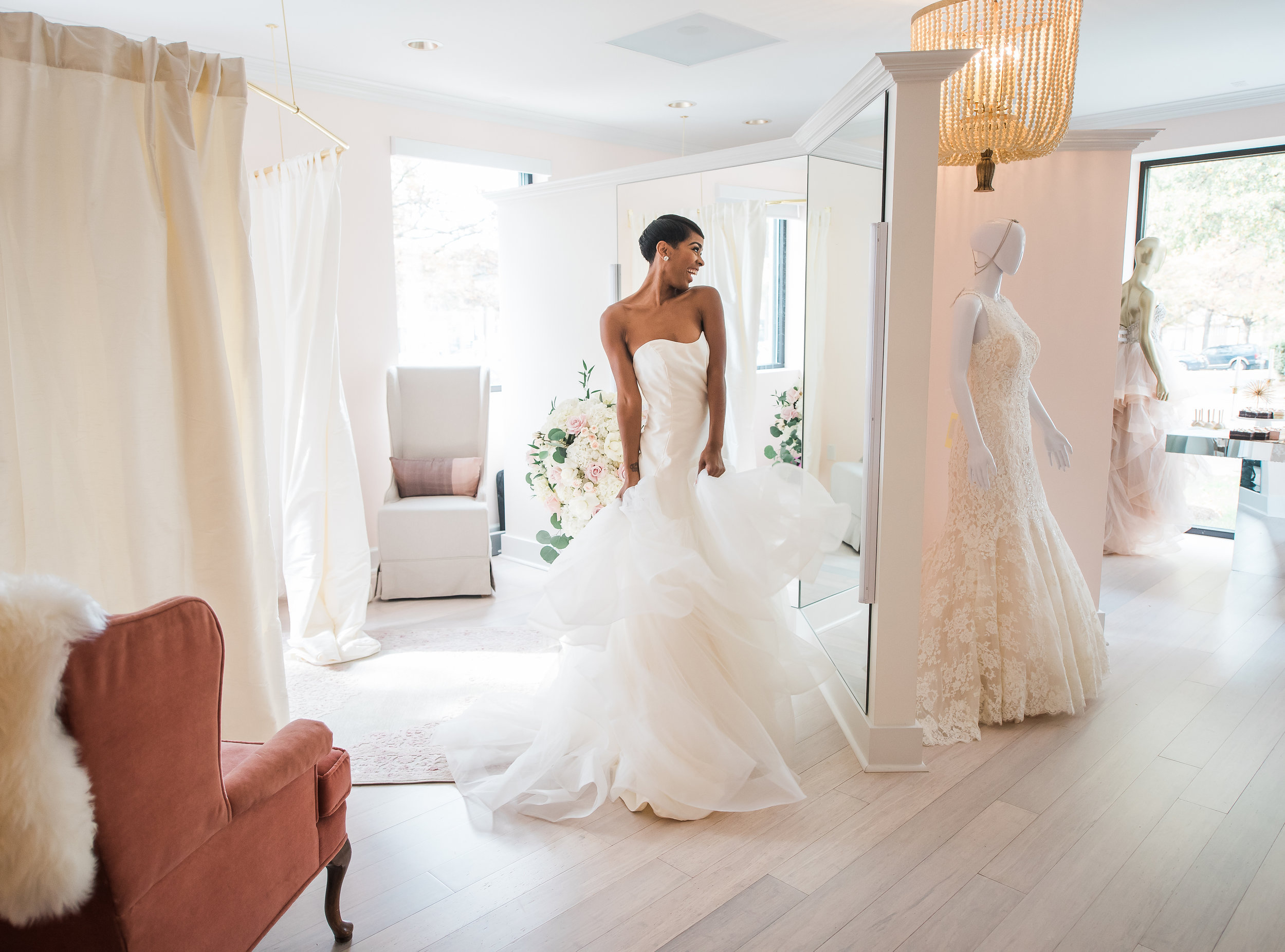 An intimate Bridal Boutique near Washington DC, MD and VA