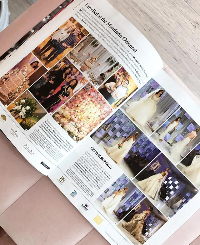 Have you seen the latest issue of @washbridegroom? There are some very pretty gowns on page 17 🤗 All of them are from when we hosted the runway for #Unveiled2018! Such an amazing experience, thank you @washingtonianmag ✨💕