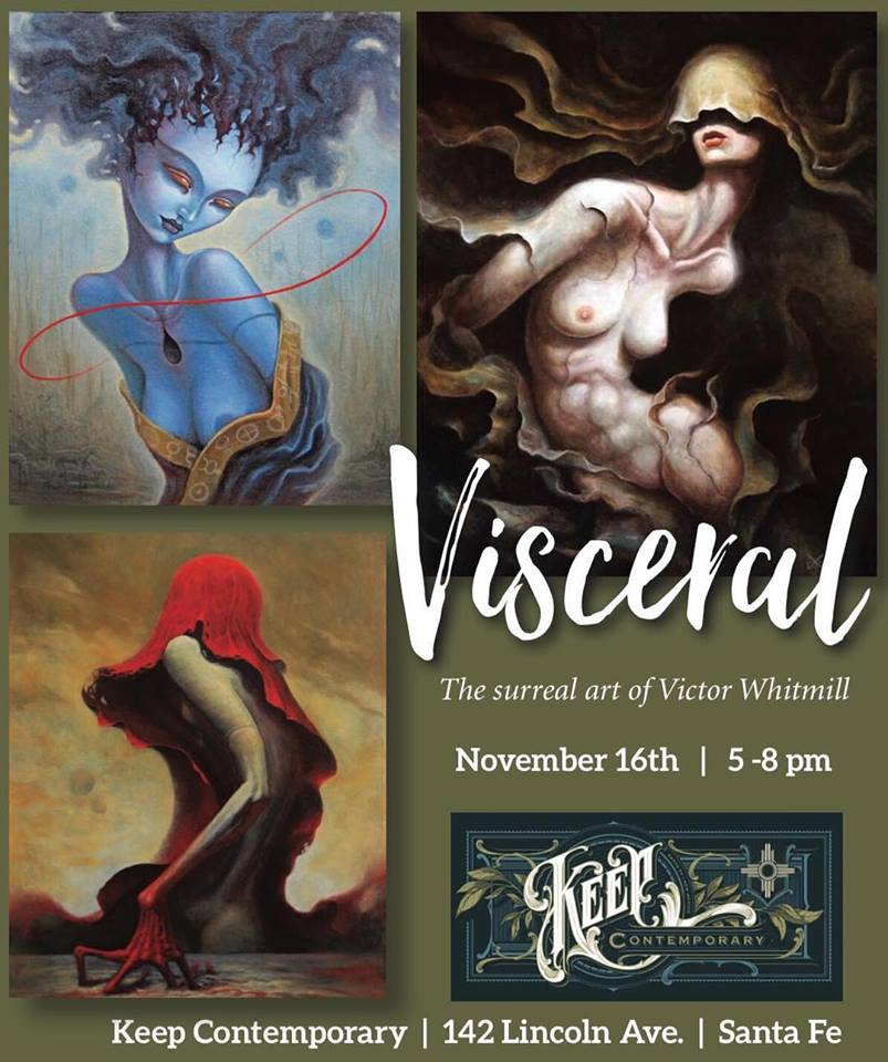 promotional material for Visceral - The Surreal Art of Victor Whitmill at Keep Contemporary