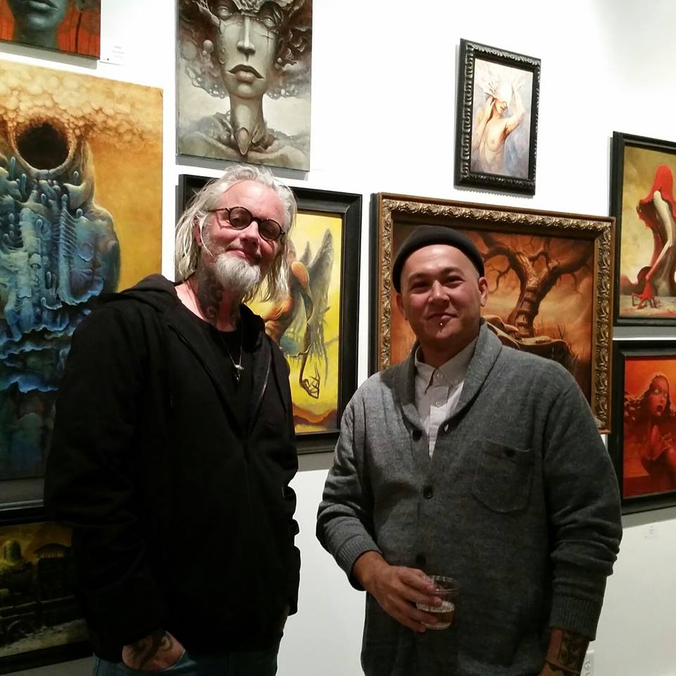 Victor (left) and Ian who hung the Visceral show at Keep Contemporary. One hell of a nice guy and he hung the show beautifully.