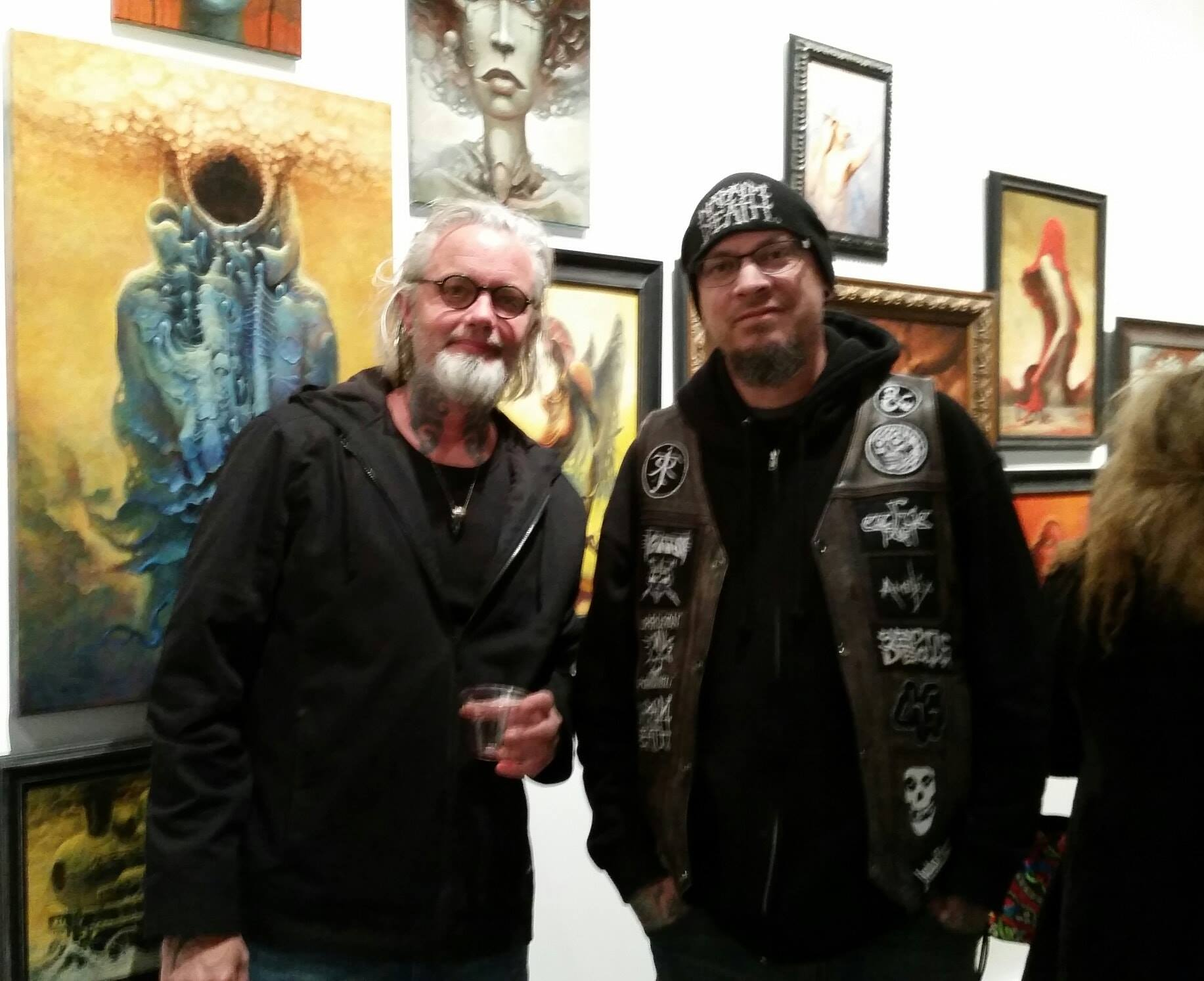 Victor with Leo Gonzalez - fantasy oil painter