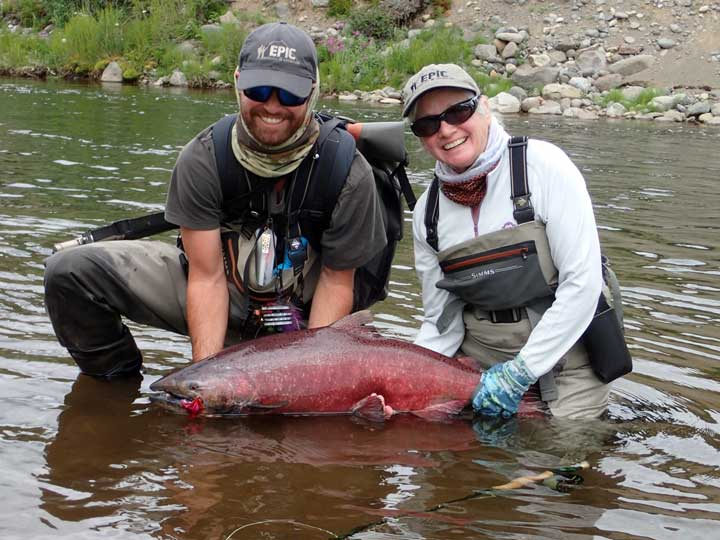 "Chinook or ""King Salmon"" show up in July"