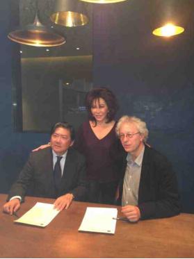 Long Yu, Linda Davies, and Bernard Foccroulle in Beijing, October 2015