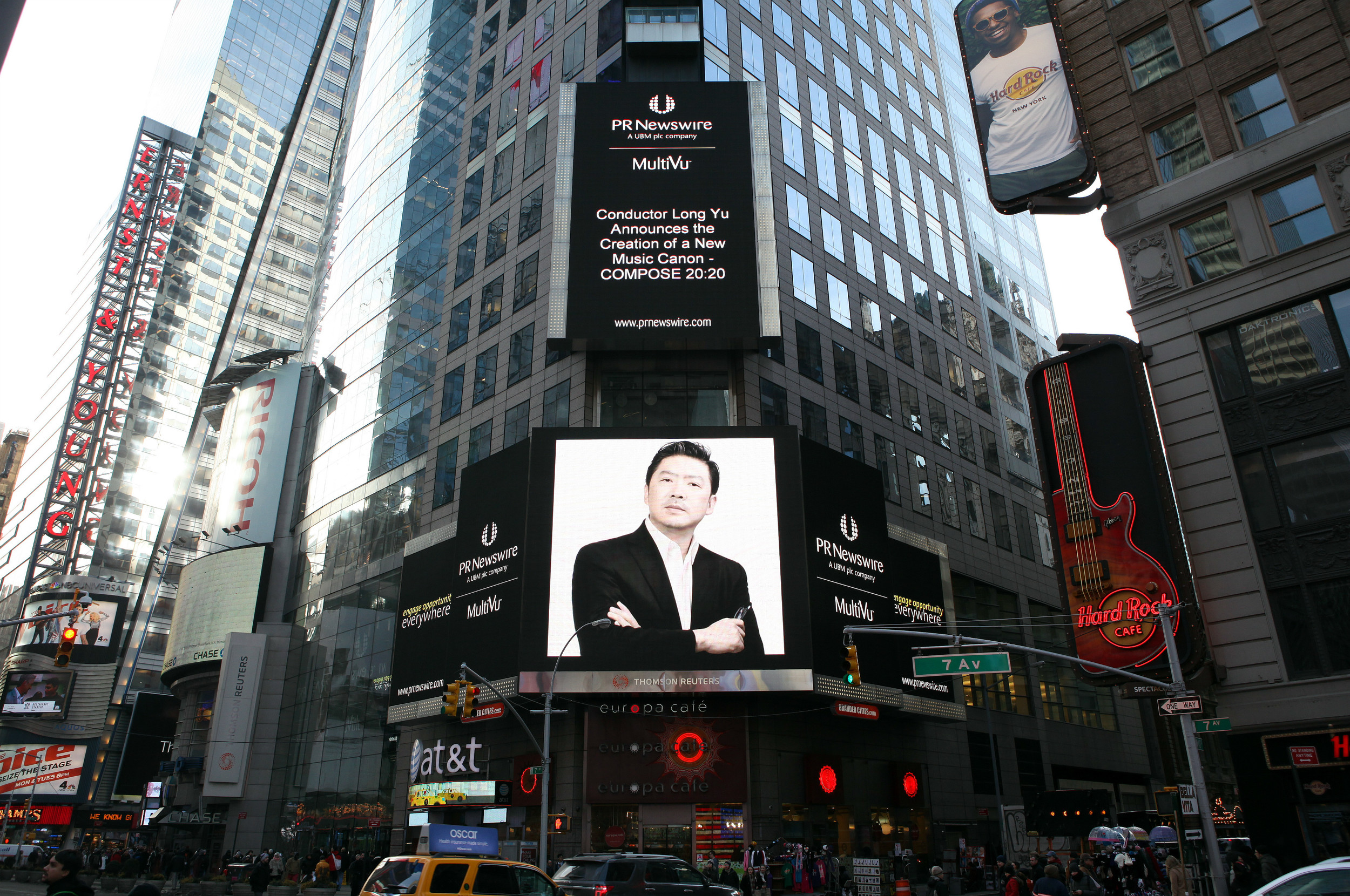 Long Yu's COMPOSE 20:20 Initiative Featured in New York's Times Square