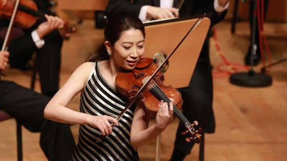 Mayu Kishima, first prize winner in the Shanghai Isaac Stern International Violin Competition 2016