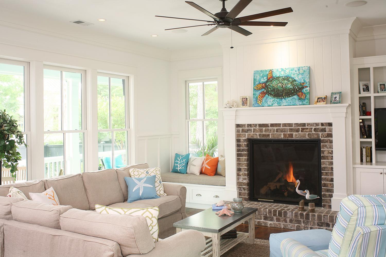 Coastal Living Room in Charleston, SC