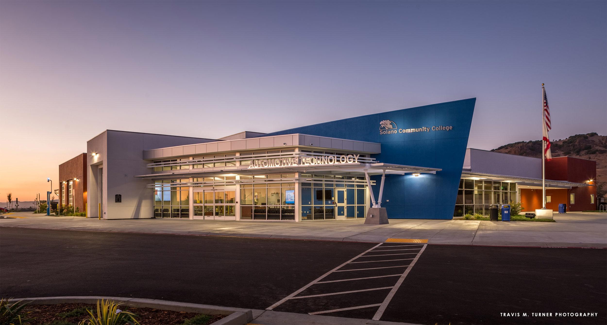 SOLANO COMMUNITY COLLEGE - AUTOMOTIVE TECHNOLOGY CENTER (W/ JK ARCHITECTURE)