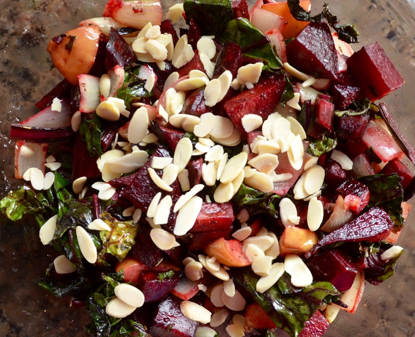 Roasted Beet Recipe with almonds