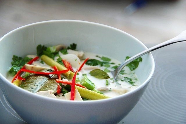 Thai Coconut Chicken soup recipe