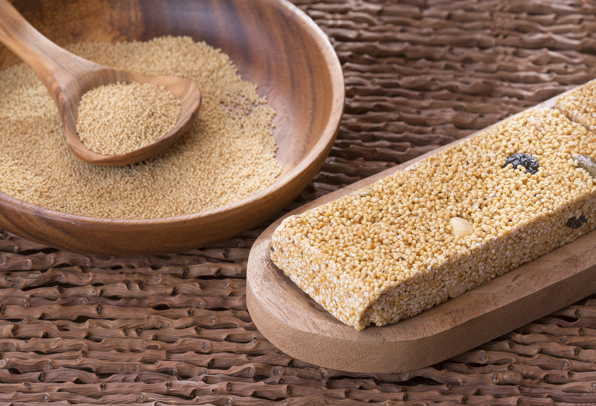 Alegria bars are a mexican dessert made with popped amaranth (paleo)
