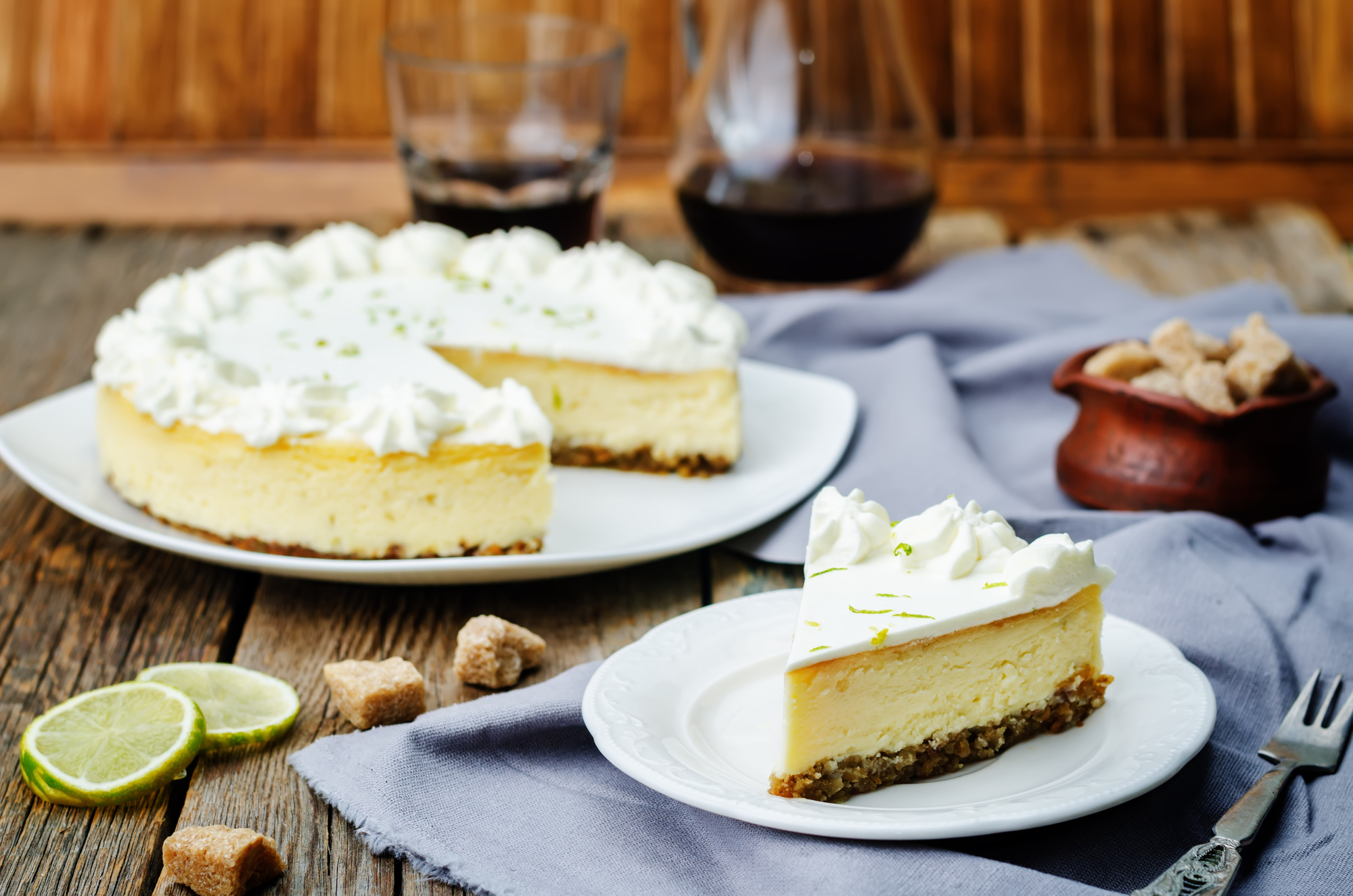 7-Ingredient Coconut Lime Cheesecake vegan gluten free dairy free recipe
