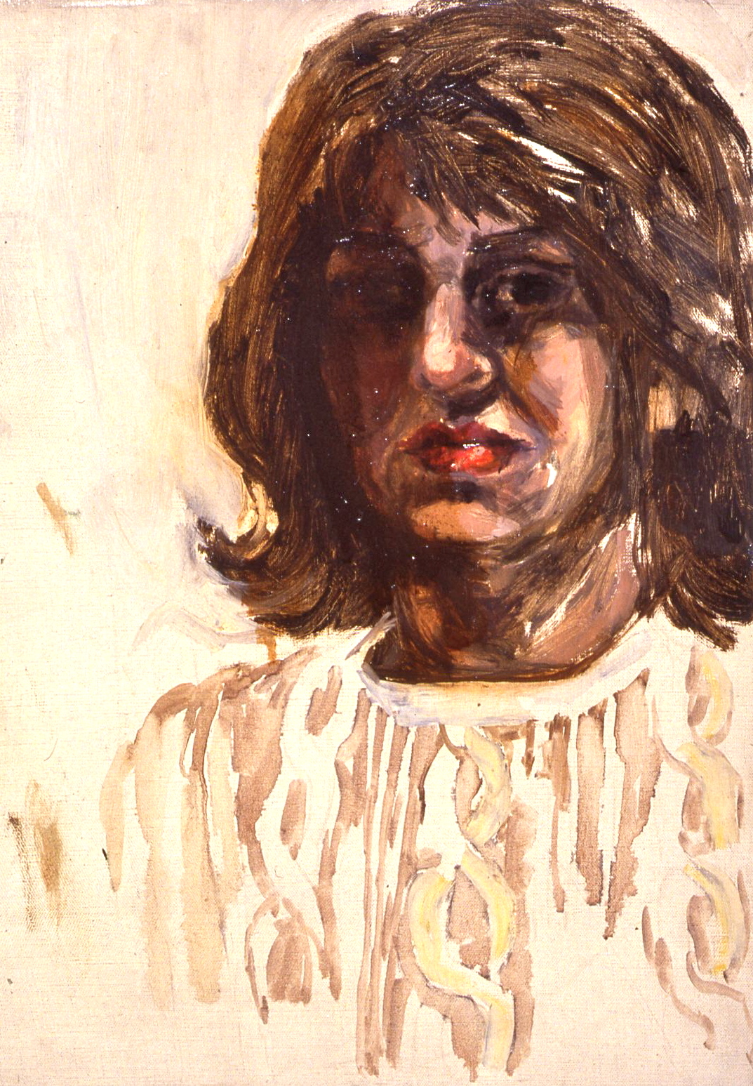 "Self-Portrait: Dark Face, 1960, 18x24"""