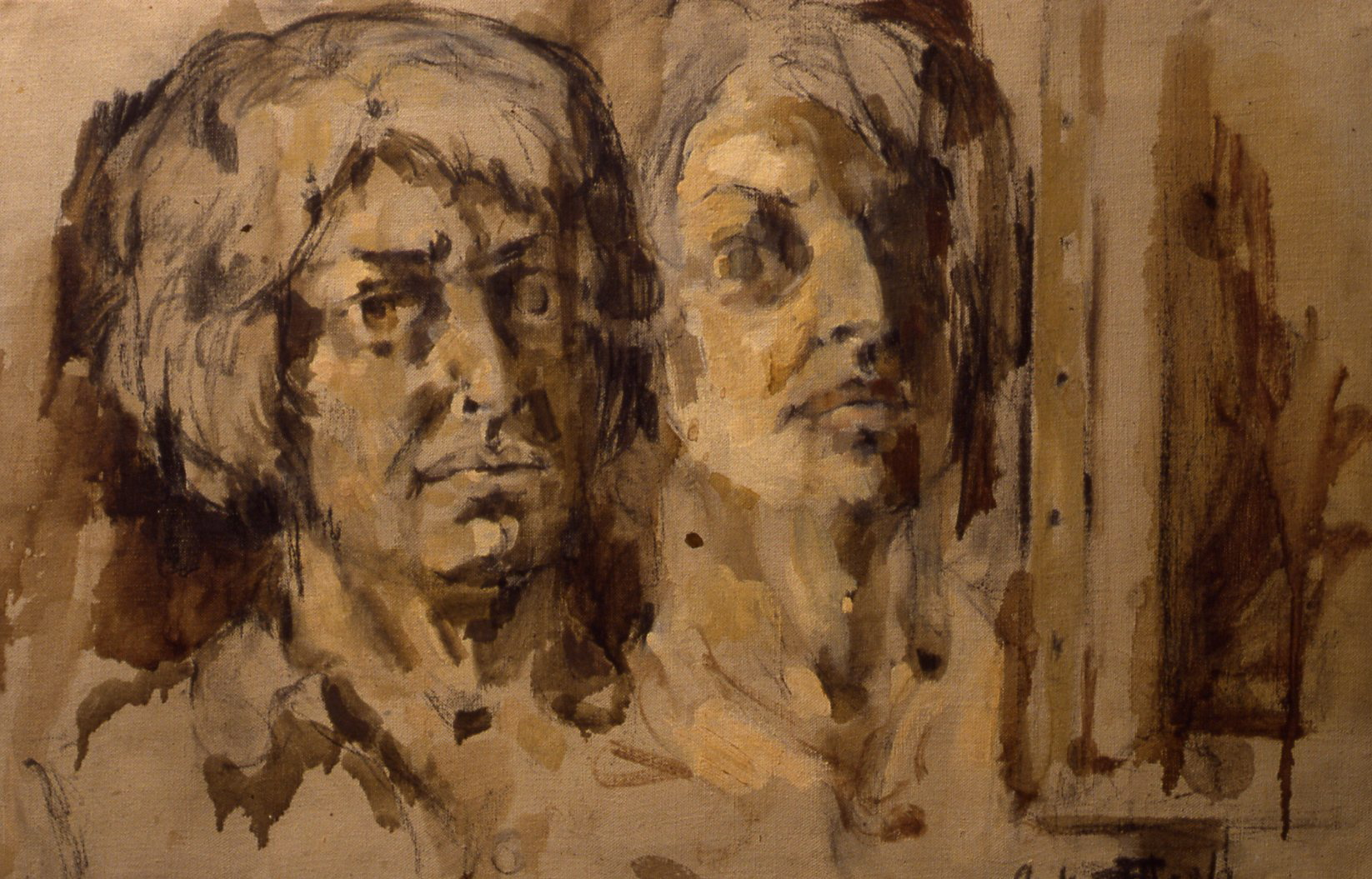 """Double Self-Portrait, 1958, 15x22"""""""