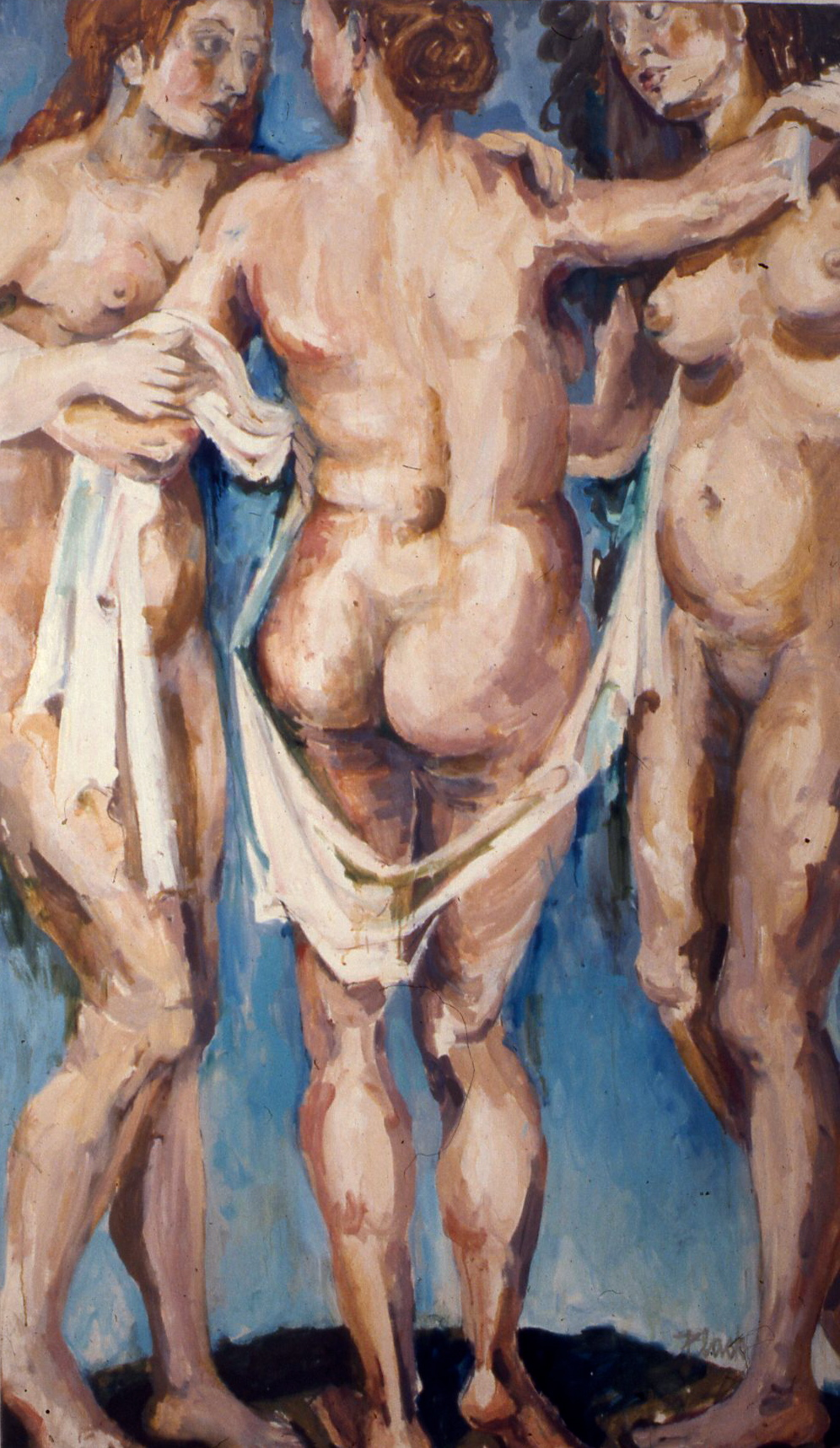 "The Three Graces, 1962, 67x40"""
