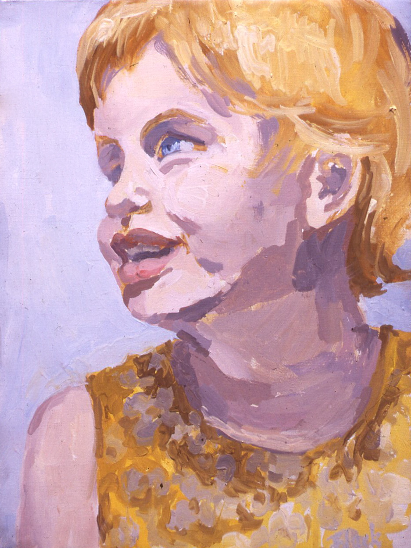"""Hannah (Golden Head), 1963, 12x9"""""""