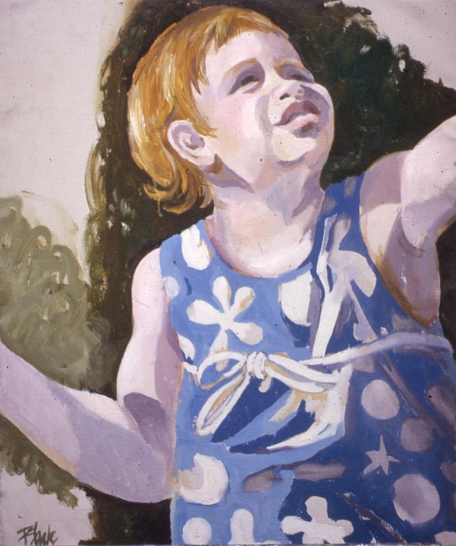"Hannah in Sunsuit, 1962, 21x18"""