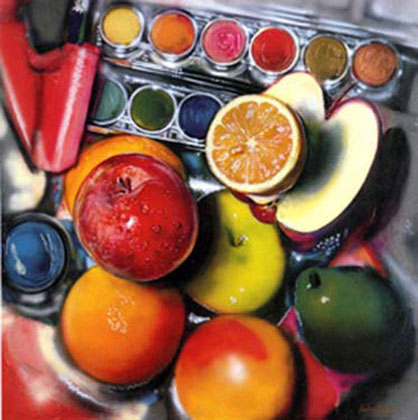 "Energy Apples, 1980, 47""x48"""