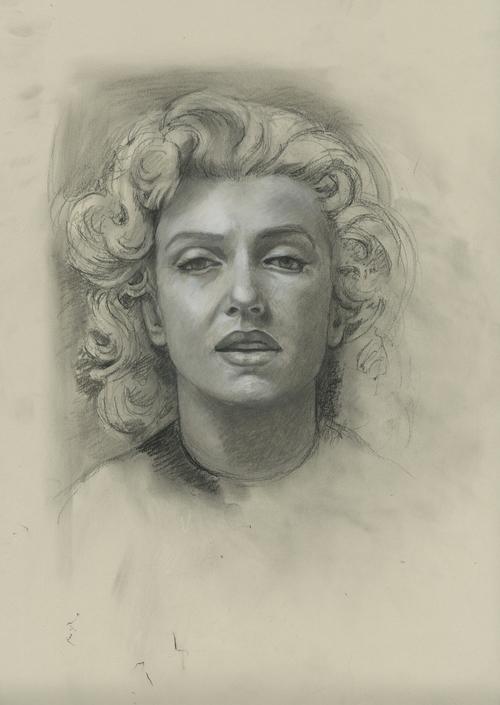 "Marilyn, 2011, 18.5""x 13.5"""