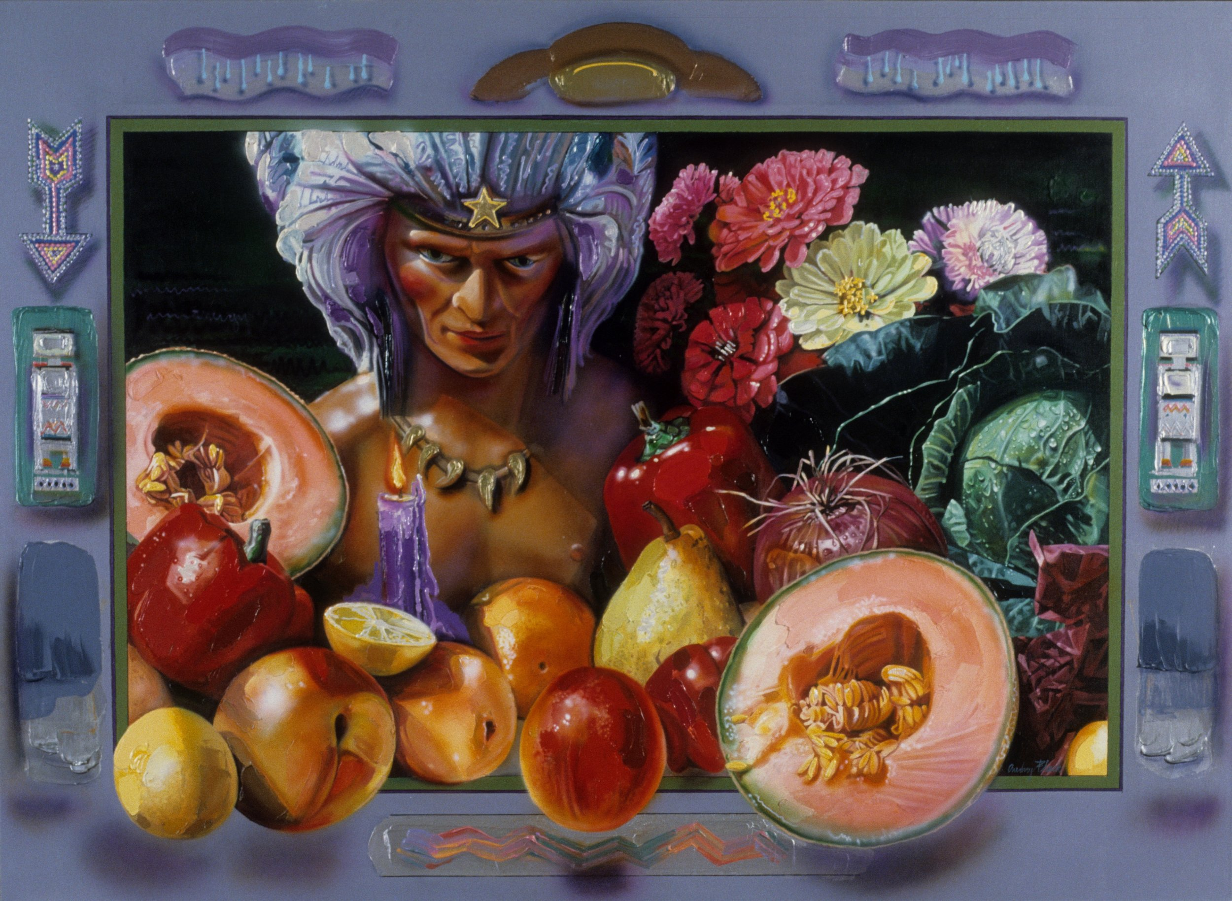 "Fruits of the Earth, 1983, 54""x74"""