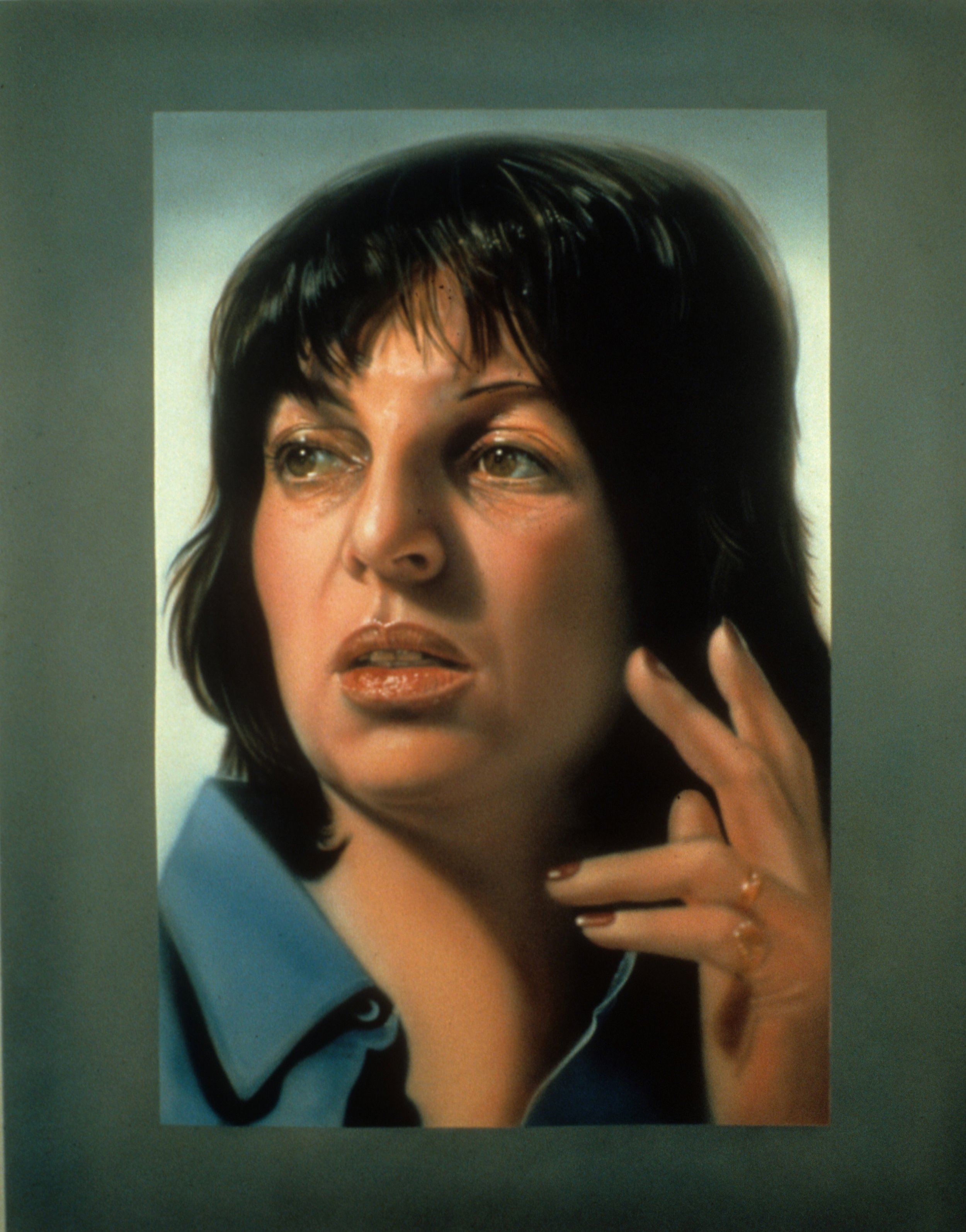 "Self-Portrait, 1974, 80""x64"""