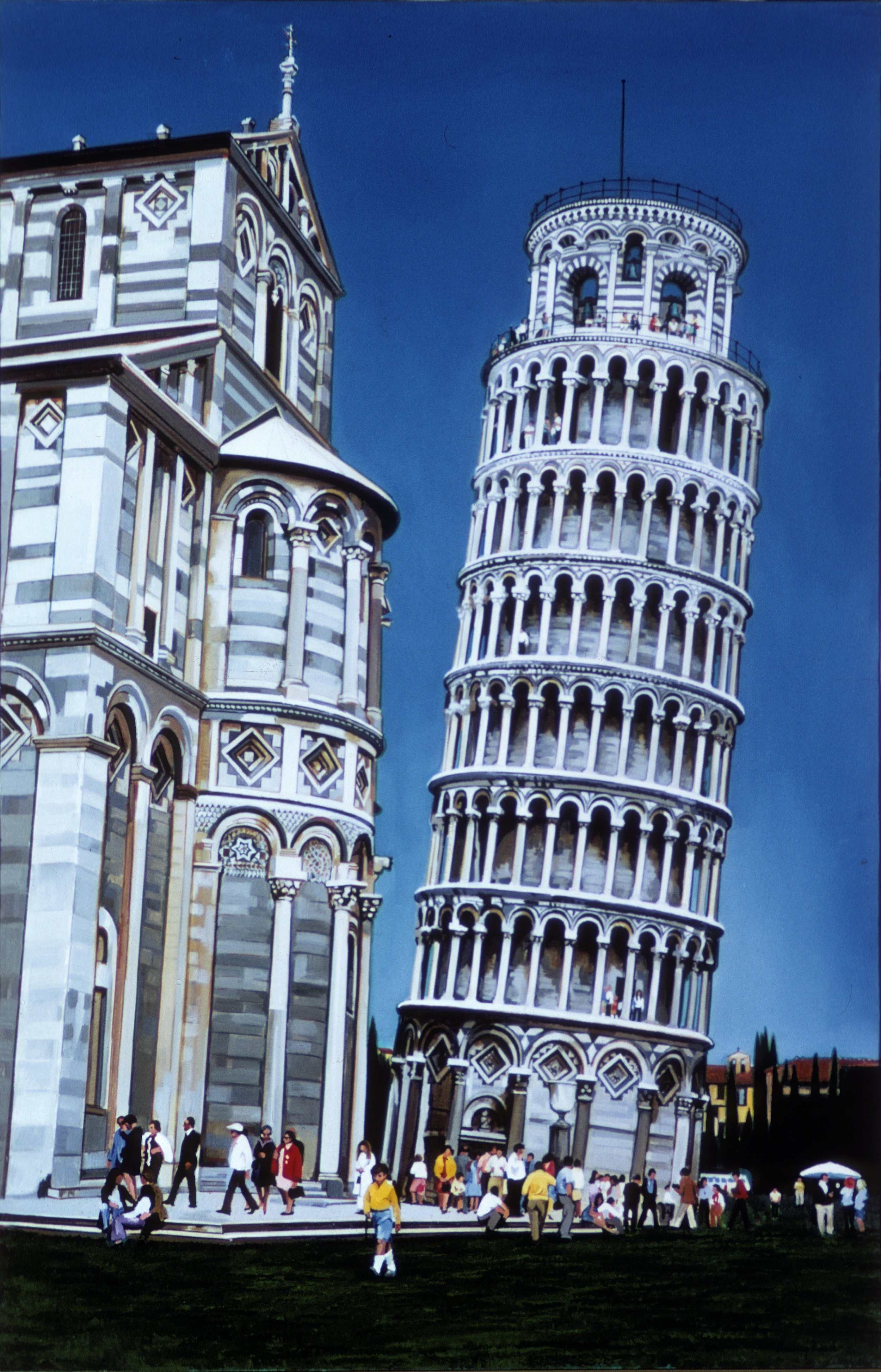 "Tower of Pisa, 1971, 72""x48"""