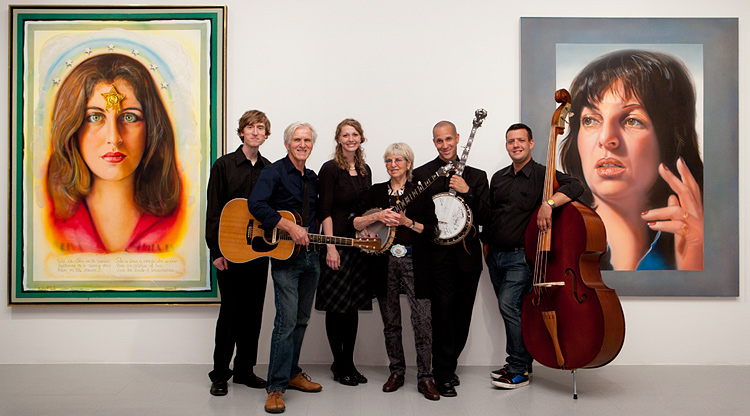From left to right:  Ben Fraker, Adam Grimshaw, Deborah Grimshaw, Audrey Flack, Johnny Jackpot, and David Roger Grossman