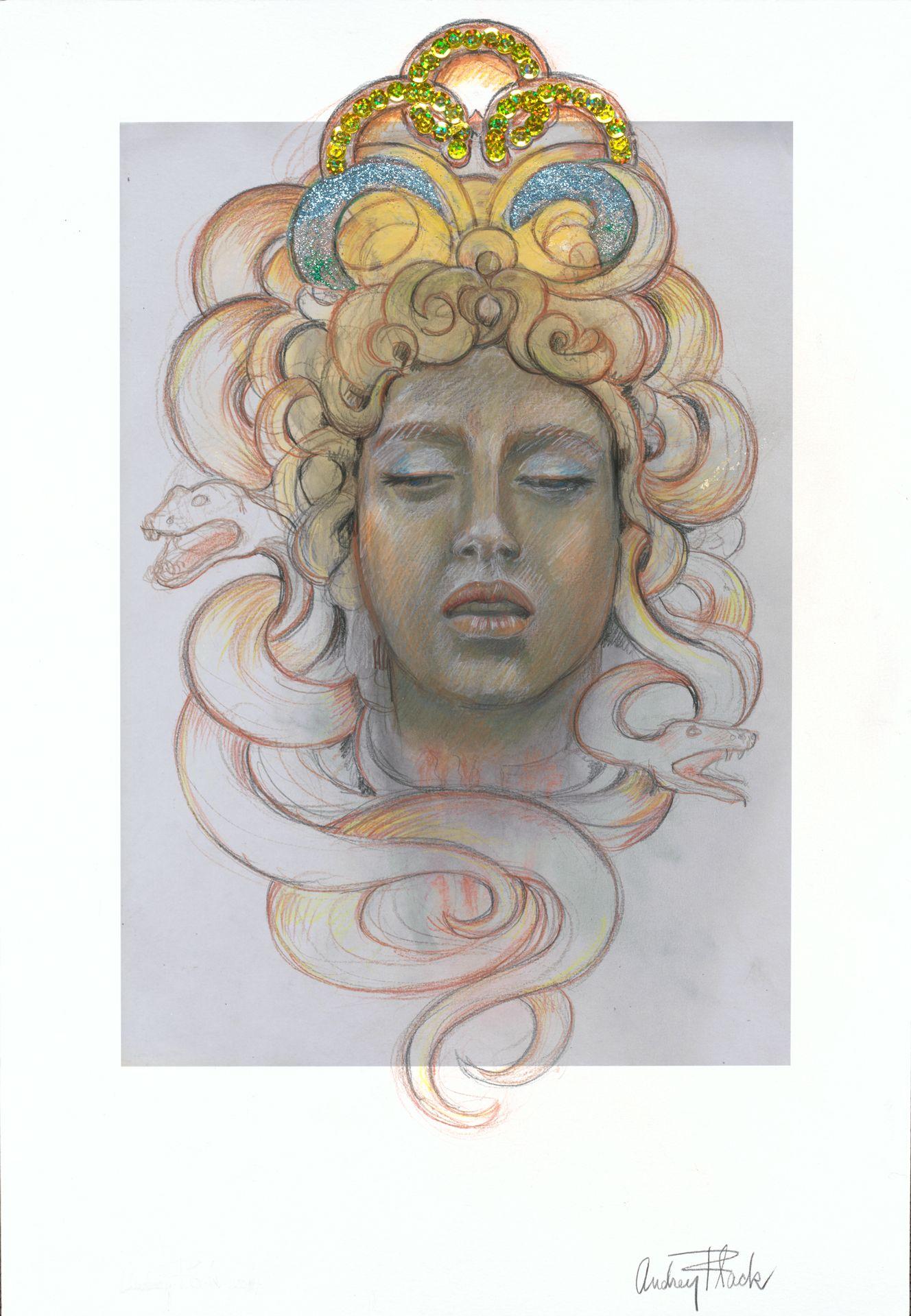 """Medusa Transcendent, 2014 21x14"""""""