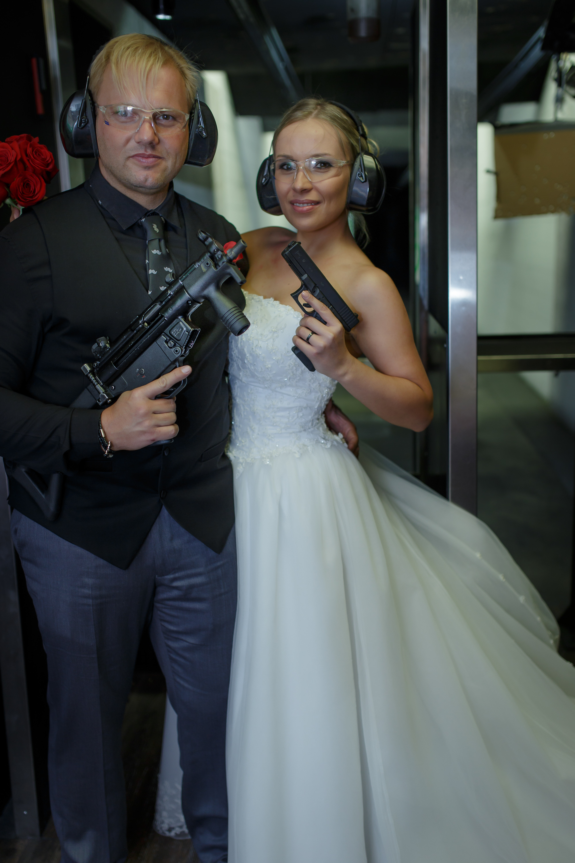 Man and Wife and gun