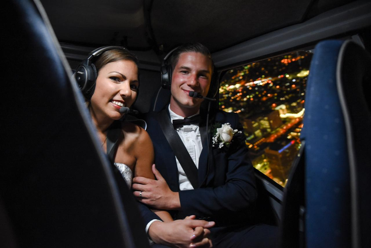 Helicopter wedding Las Vegas Strip