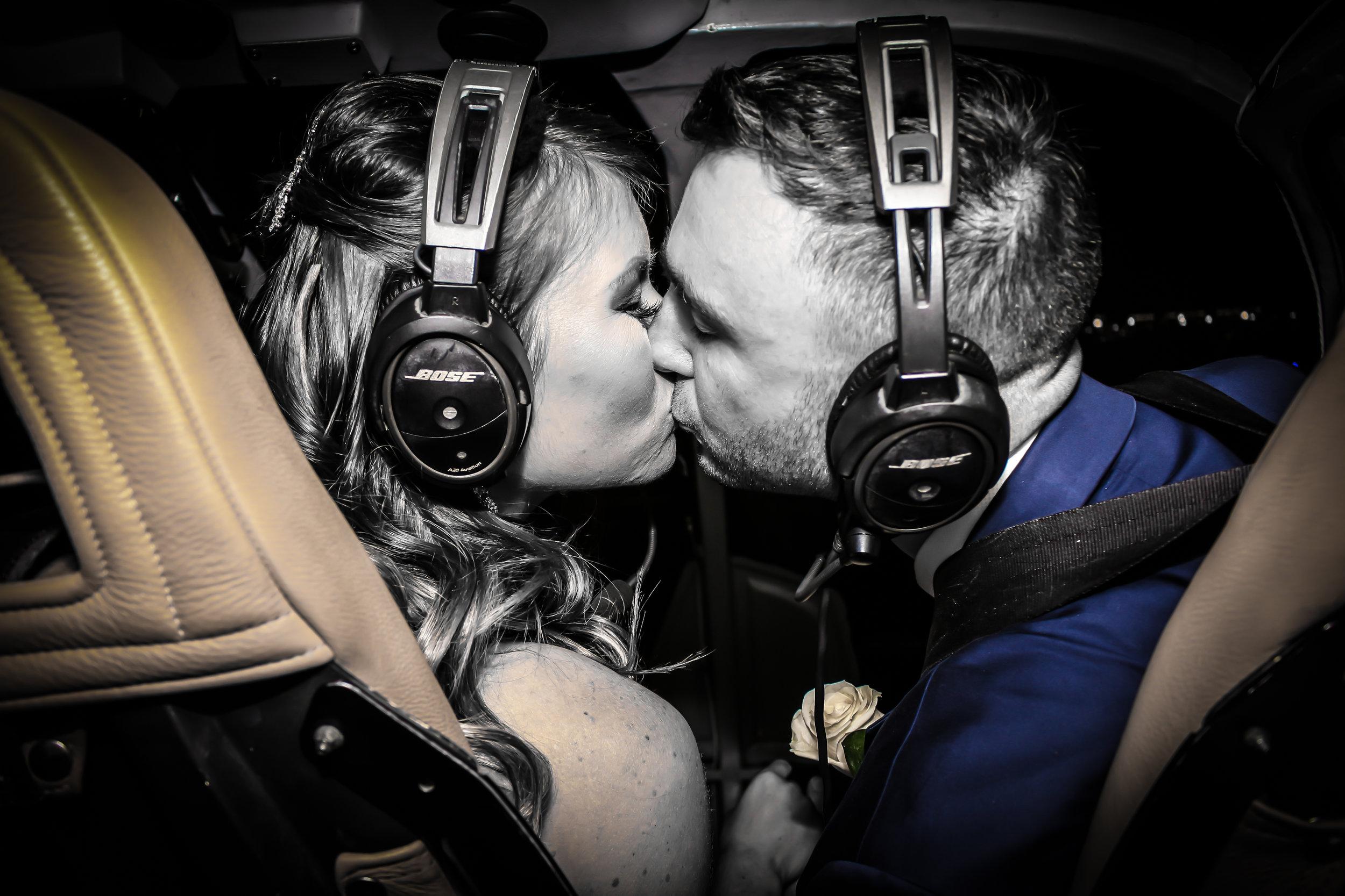 Helicopter wedding ceremony