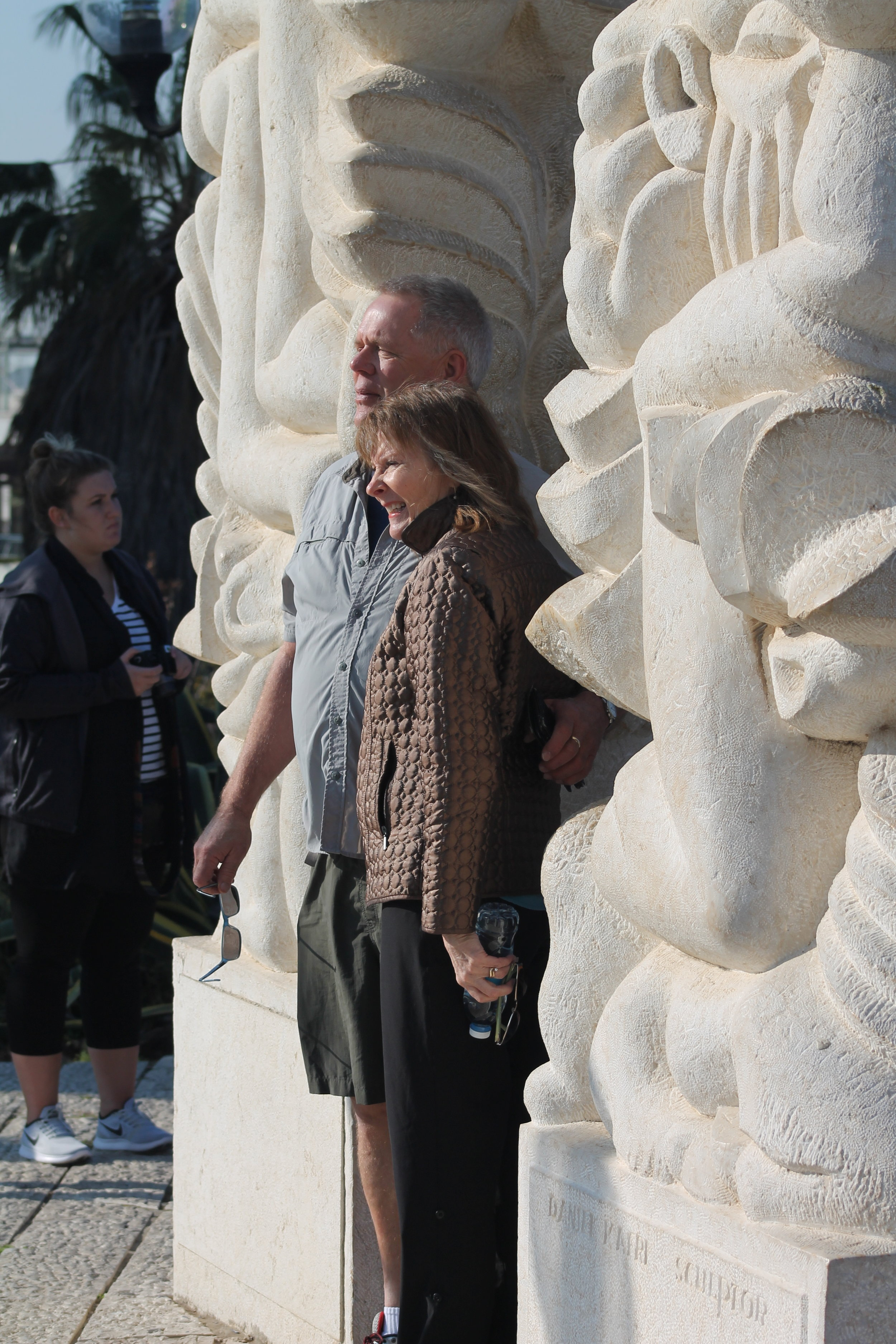 Anna, Marv and Judy in Jaffa.