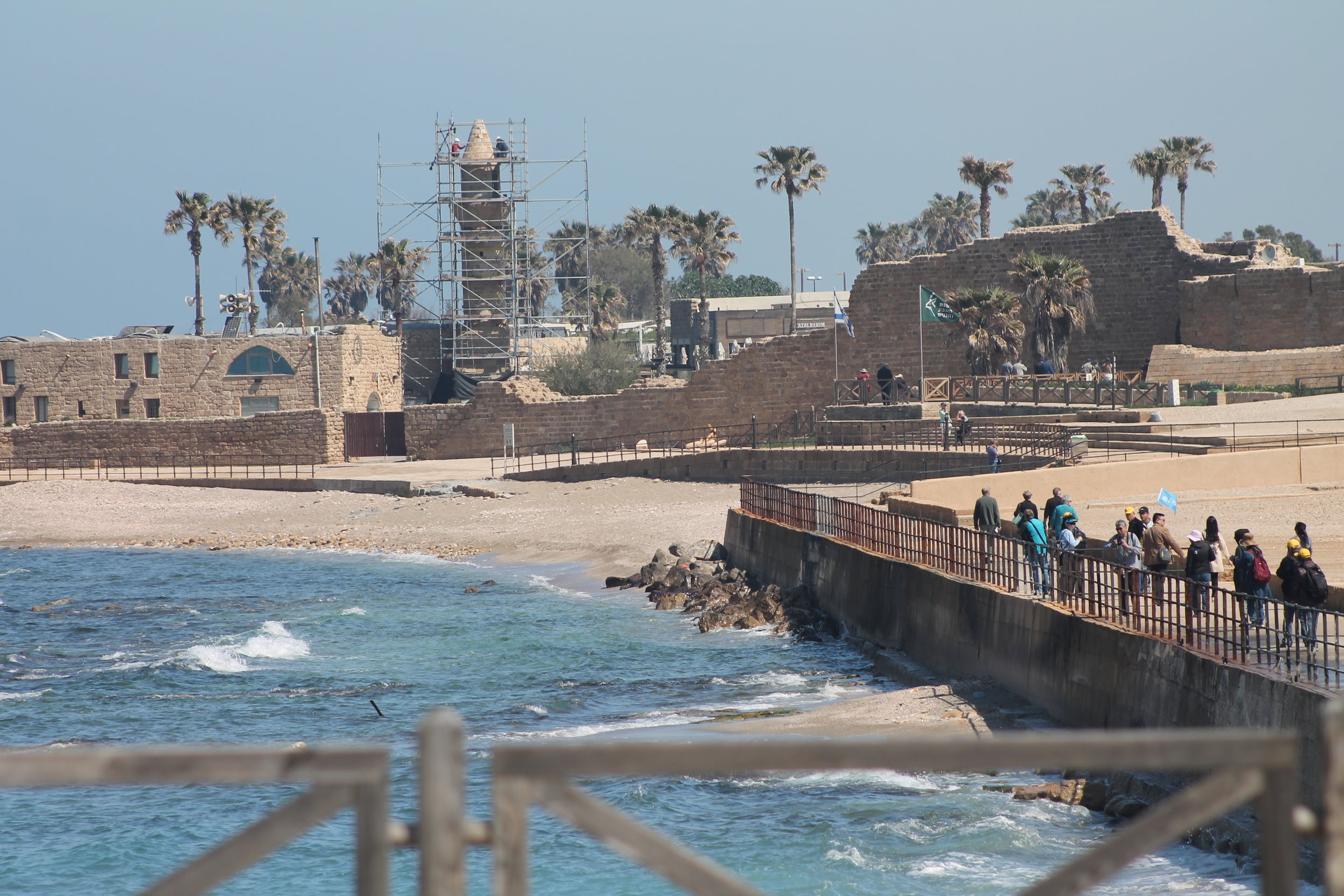 Caesarea Maritima, the ancient port built by Herod the Great as a grand place to enter the land.