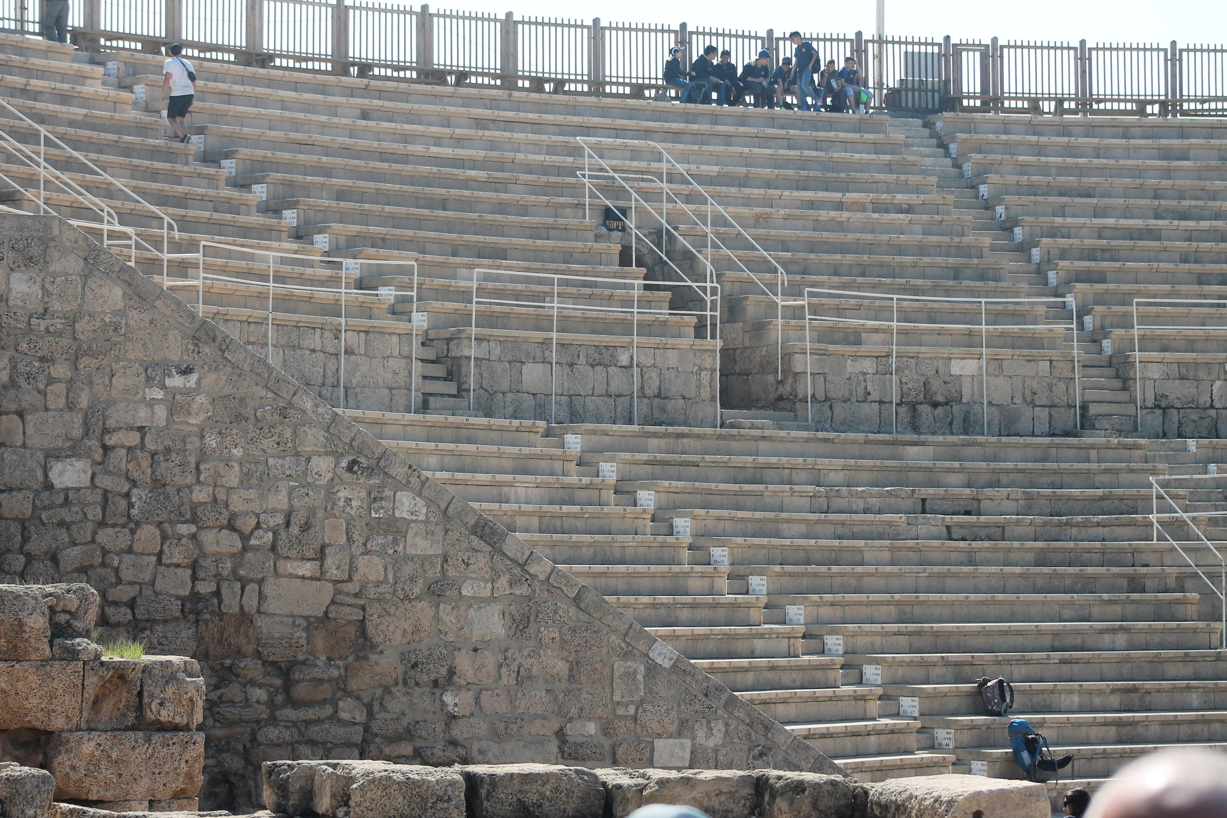 The theater at Caesarea Maritima, the ancient port built by Herod the Great as a grand place to enter the land.