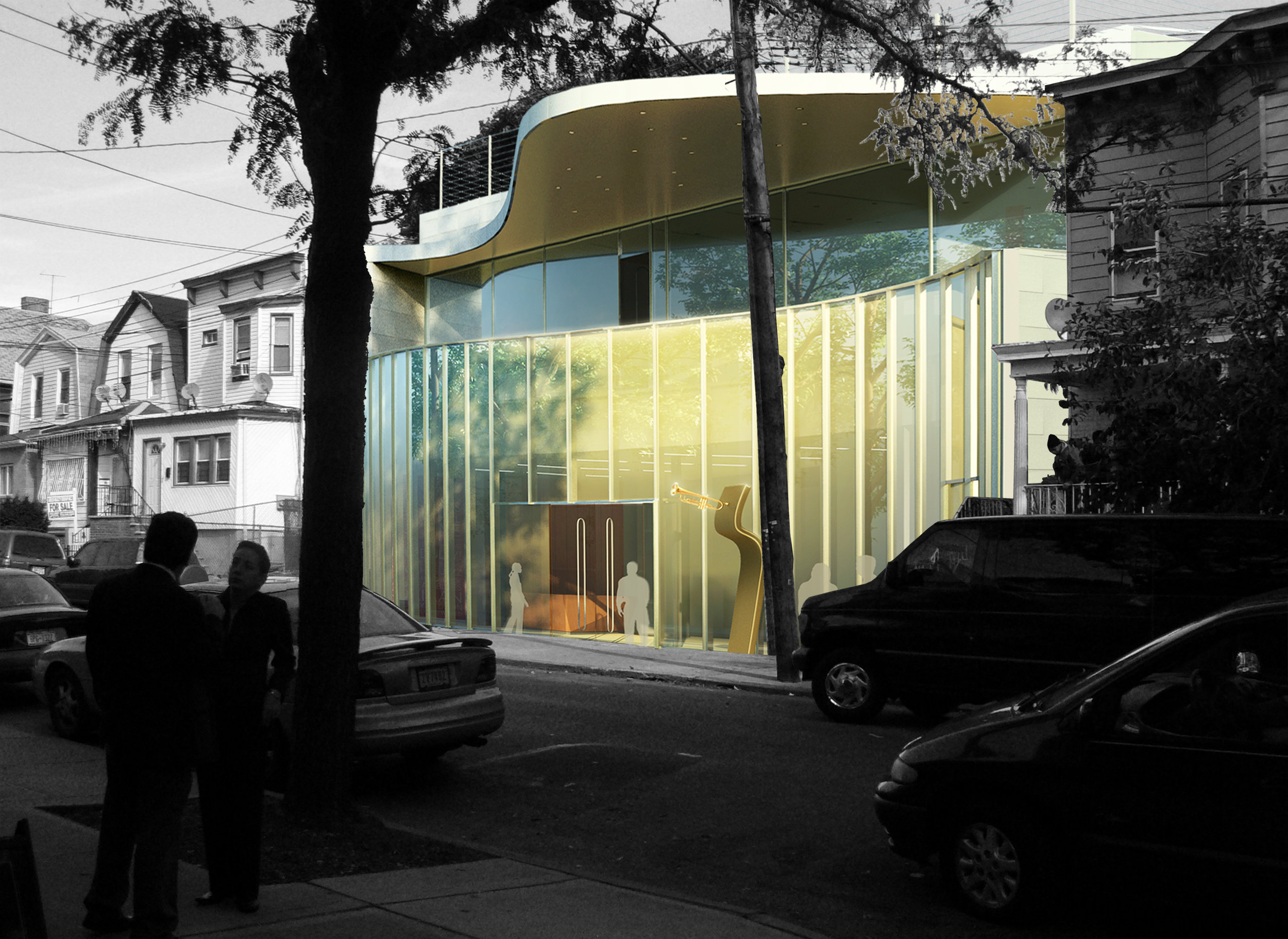 Rendering of the exterior façade of the museum