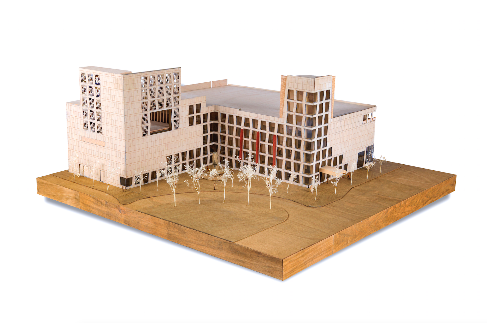Architectural model of the Africa Center