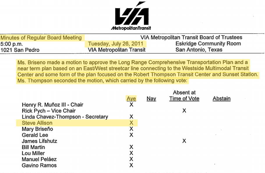 """Agenda Item 5: Long Range Comprehensive Transportation Plan (LRCTP) """"Smartway SA"""" - for discussion and possible action related to the LRCTP to include identification and implementation of high capacity transit options under the plan."""