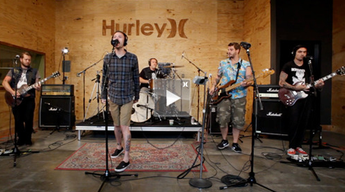 "I Am The Avalanche stopped by the Hurley studios when they were out west and filmed their performance of ""Brooklyn Dodgers"".  Watch it  here !"