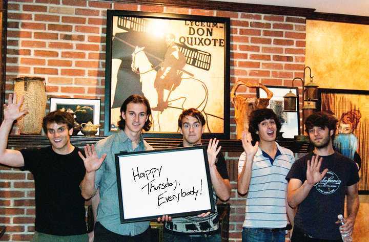 Valencia announced their album title and release date on a dry erase board using 23 photos. Yes, we're serious, and we love it.  Check it out on AbsolutePunk !
