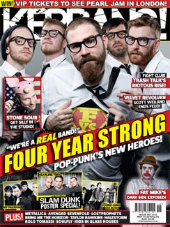 We can be your hero baby, we can—ok. I'm going to stop singing Enrique and take this time to announce that Four Year Strong is on the cover of this week's Kerrang! Be sure to  grab your copy   to read about the new heroes of pop-punk!