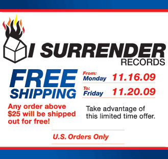 We've got a lot of news this week and because we're so excited, we're going to start handing out rewards. FOR THIS WEEK ONLY (until the 20th), there will be free shipping in the  I Surrender webstore   for orders over $25.